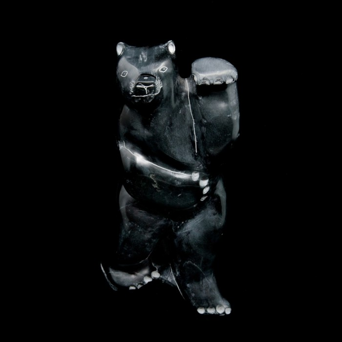Sculpture pierre à savon  ours debout