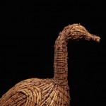 sculpture bernache en mélèze