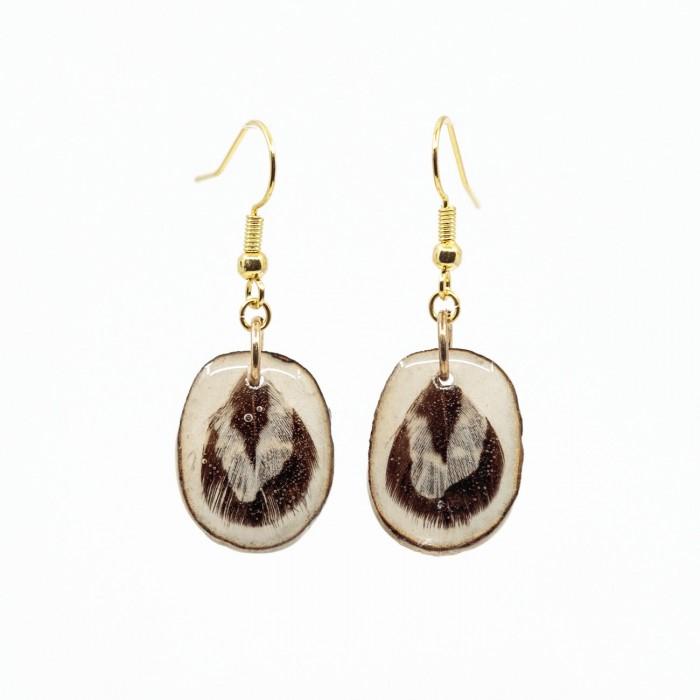 Boucles d'oreilles panache de chevreuil et plume de faisan