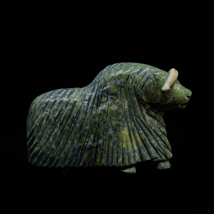 Sculpture petit boeuf musqué