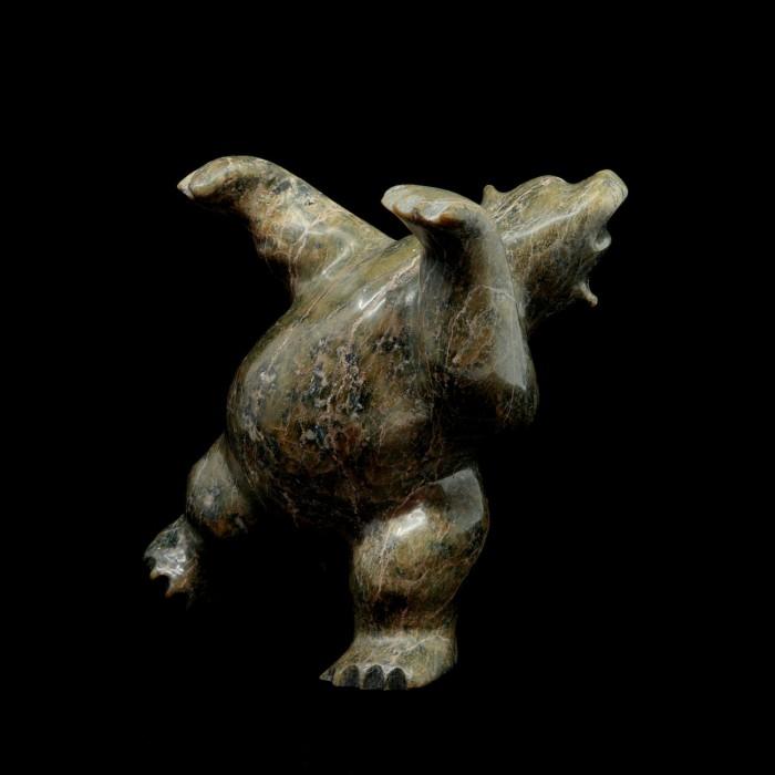 Ours dansant en serpentine vert foncé