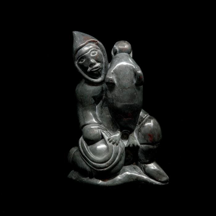 Sculpture chasseur de phoque